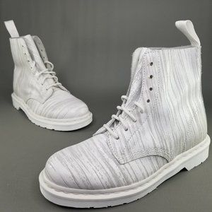 """Dr. Martens Pascal """"Marble"""" 8-Eye Leather Boots 10"""